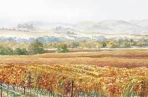 Olivera Vineyards Watercolor Art